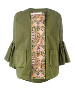 Bazar Deluxe   Embroidered Trumpet Sleeve Jacket Size 38