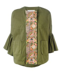 Bazar Deluxe | Embroidered Trumpet Sleeve Jacket