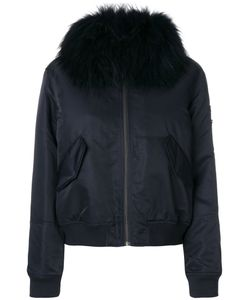 Army Yves Salomon | Trim Bomber Jacket Women Cotton/Rabbit