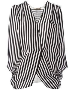 Etro | Striped Wrap Front Blouse Size 40