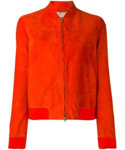 Herno | Leather Bomber Jacket
