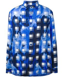 Issey Miyake | Bleach Effect Patterned Shirt