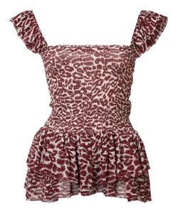 Piamita | Leopard Print Top Xs Polyester/Silk