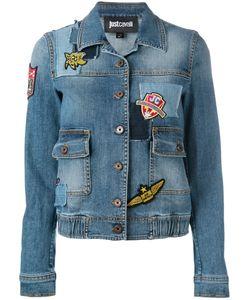 Just Cavalli | Embroidered Patch Denim Jacket Size 42