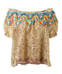 Peter Pilotto | Embroidered Lace Bardot Top Size 12