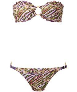 Amir Slama   Printed Bandeau Bikini Set Gg Elastodiene