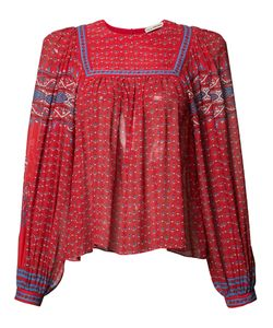 Ulla Johnson | Patterned Pleated Blouse 10 Silk