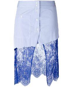 Filles A Papa | Scully Lace Panel Asymmetric Striped Skirt