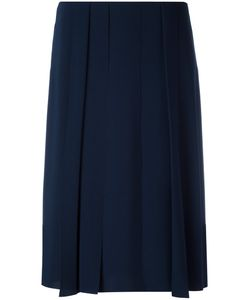Cédric Charlier | Pleated Detail Skirt 42 Polyester