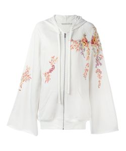Amen | Embroidered Flowers Zipped Hoodie