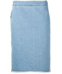 Each X Other | Frayed Denim Pencil Skirt