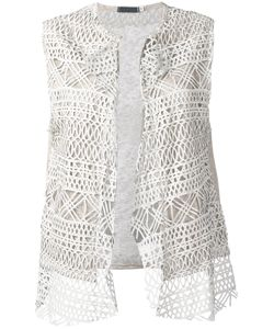 Cutuli Cult | Embroidered Knitted Gilet