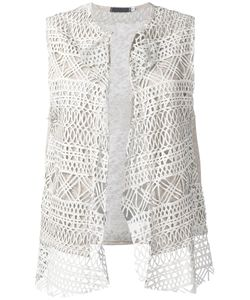 Cutuli Cult | Embroidered Knitted Gilet Women