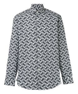 Salvatore Ferragamo | Motorcycle Print Shirt Size Medium