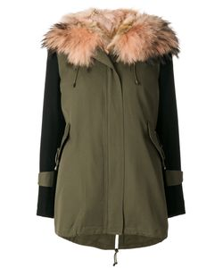 Forte Couture | New Gala Military Parka Women Cotton/Polyester/Acetate/Raccoon