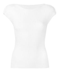 Issey Miyake Cauliflower | Textured Semi-Sheer Slim-Fit Blouse