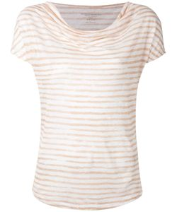 Majestic Filatures | Cowl Neck Stripe T-Shirt Size Iii