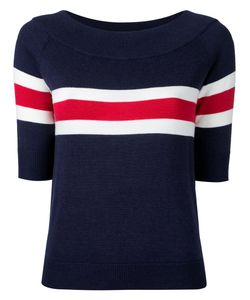 Guild Prime | Striped Half Sleeve Sweater