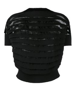 Junya Watanabe Comme Des Garçons   Layered Ribbed Cropped Blouse Size
