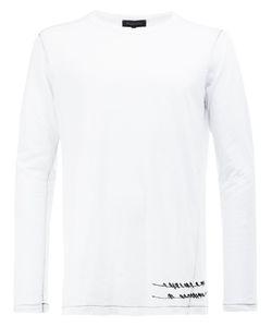 Ann Demeulemeester Grise | Birds Print Sweatshirt Xs Cotton