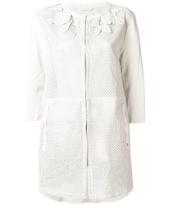 Henry Beguelin   Perforated Decoration Collarless Jacket Lamb