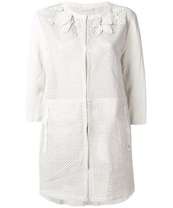 Henry Beguelin | Perforated Decoration Collarless Jacket Lamb