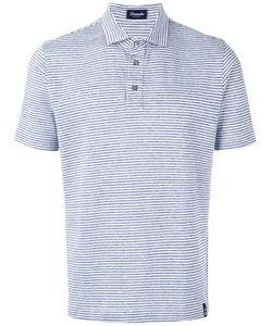 Drumohr | Striped Polo Shirt Size Xl
