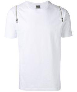 Les Hommes   Zipped Shoulders T-Shirt Large Cotton