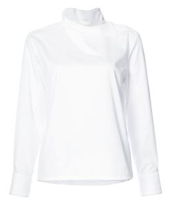 Atlantique Ascoli   Buttoned Shoulder Longsleeved Blouse Women