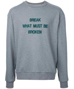 Juun.J   Slogan Front Sweatshirt 48 Cotton