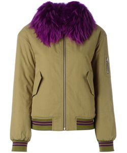Army Yves Salomon | Fur Trim Bomber Jacket Size 38