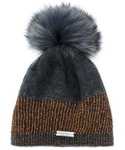 Norton   Racoon Fur Pom Pom Hat
