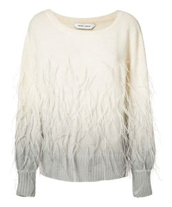 Prabal Gurung | Feathers Applique Degrade Jumper Angora/Ostrich