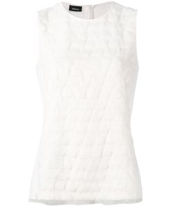 Akris | Sleeveless Woven Effect Blouse Size