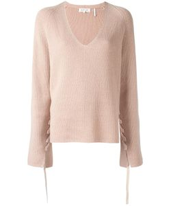 Helmut Lang | Lace-Sleeve Jumper Xs Cashmere/Wool
