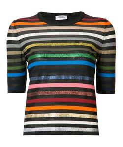 Sonia Rykiel | Short-Sleeve Striped Rainbow Sweater Size Xs