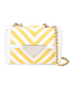 Sara Battaglia | Striped Chain Strap Bag Women Silk/Bos