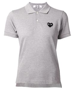 Comme Des Garçons Play | Embroidered Heart Polo Shirt