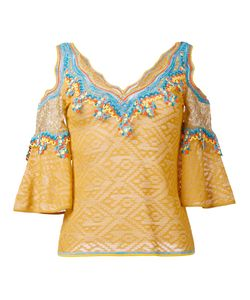 Peter Pilotto | Embroidered Cold-Shoulder Blouse