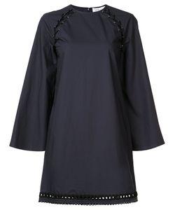 Derek Lam 10 Crosby | Lace-Up Shoulder Shift Dress