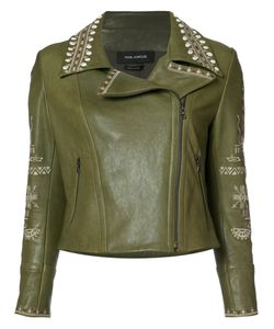Yigal Azrouel | Embroidered Biker Jacket Size 14