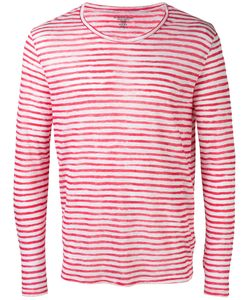 Majestic Filatures | Striped Long Sleeve T-Shirt Size Large