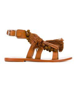 Twin-Set   Fringe Tasseled Sandals Size 37