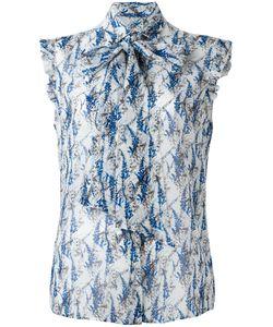 Kiton   Printed Sleeveless Shirt 42 Silk