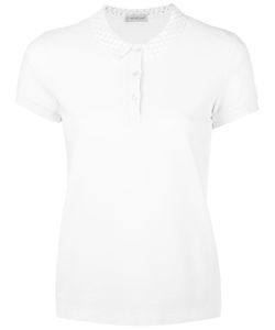 Moncler | Cut Out Collar Polo Shirt Xl Cotton