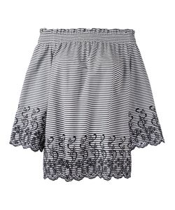 P.A.R.O.S.H. | P.A.R.O.S.H. Off-Shoulder Striped Blouse Size Xs