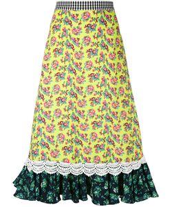 House Of Holland | Ruffle Hem Midi-Skirt Women
