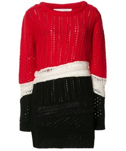 Prabal Gurung | Chunky Knit Colour-Block Jumper Large Cashmere