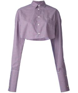 Y / Project | Plaid Cropped Shirt