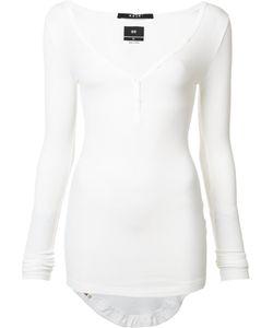Ksubi   Longsleeved Buttoned T-Shirt Xs Rayon/Spandex/Elastane